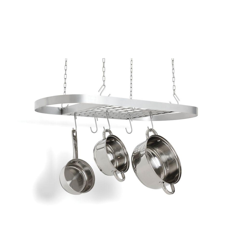 carbon steel oval pot rack