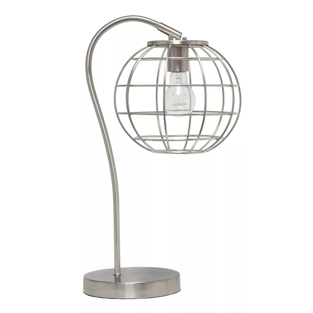 20 inch brushed nickel table lamp
