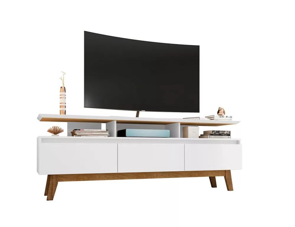 yonkers 70 86 meuble tv en blanc