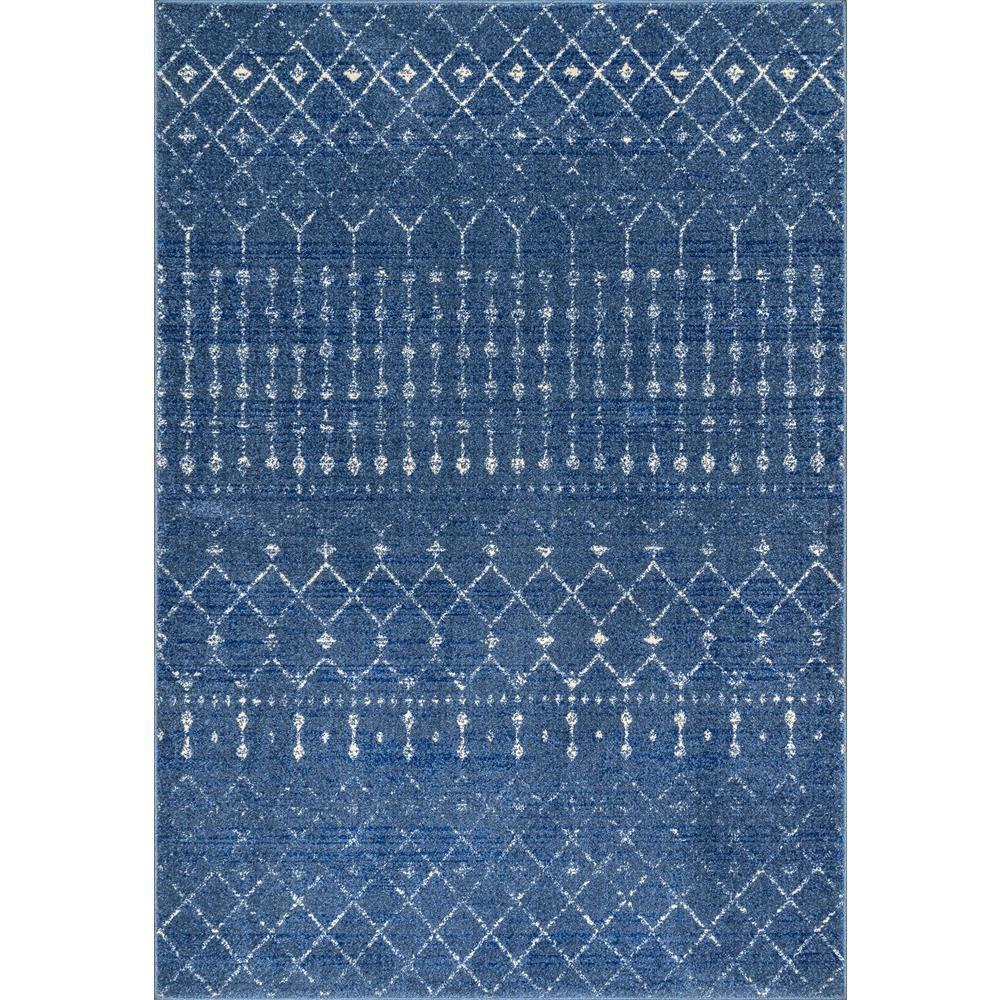 tapis d interieur marocain blythe bleu fonce 10 ft x 14 ft