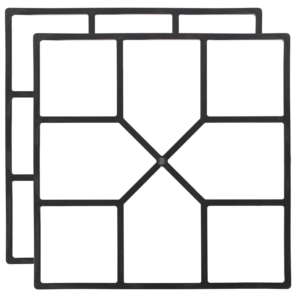 pavement mold cement form stamp walkway maker patio stepping stone pavers pathway mould 2 pack