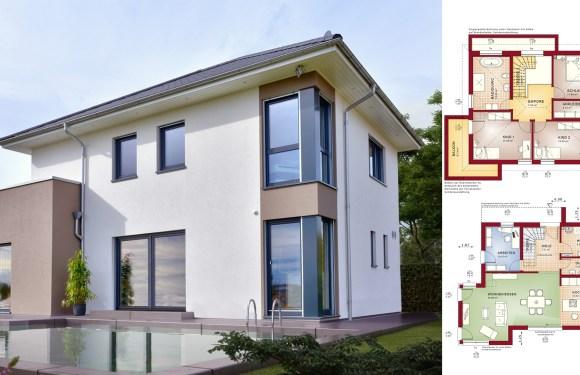 5 Rooms Home Design Plan Concept-M 145