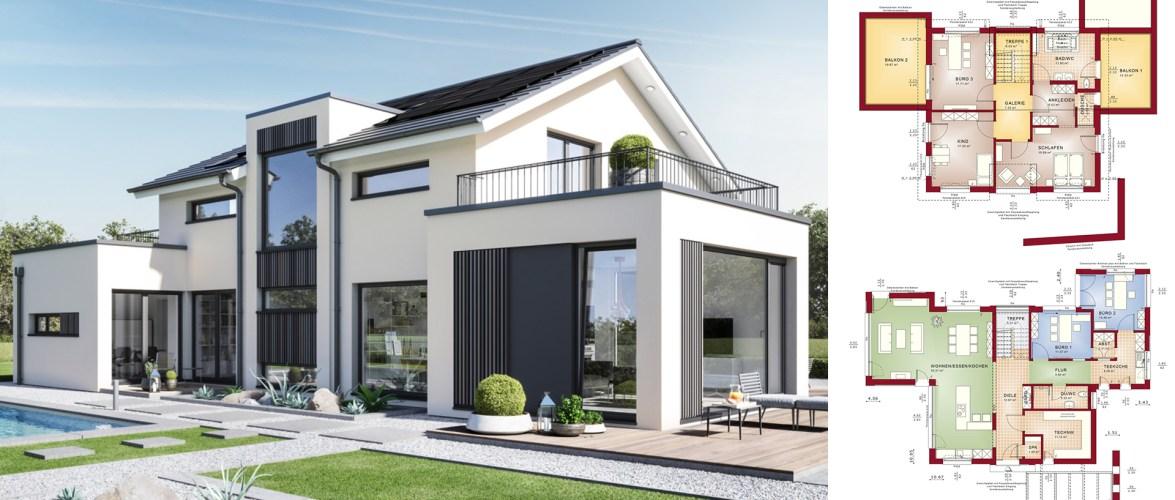 6 Bedrooms Home design Plan Concept-M 154