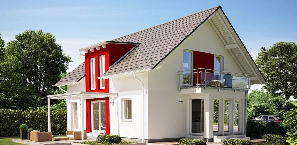 4 Rooms Modern House Design with pitched roof