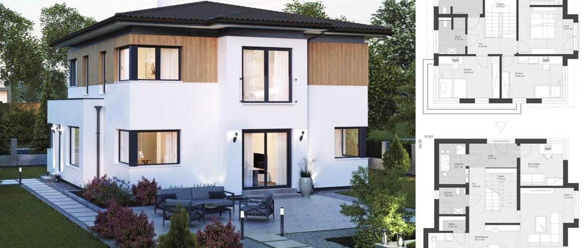 Prefabricated house Standard villa ELK 11.5 x 10.7
