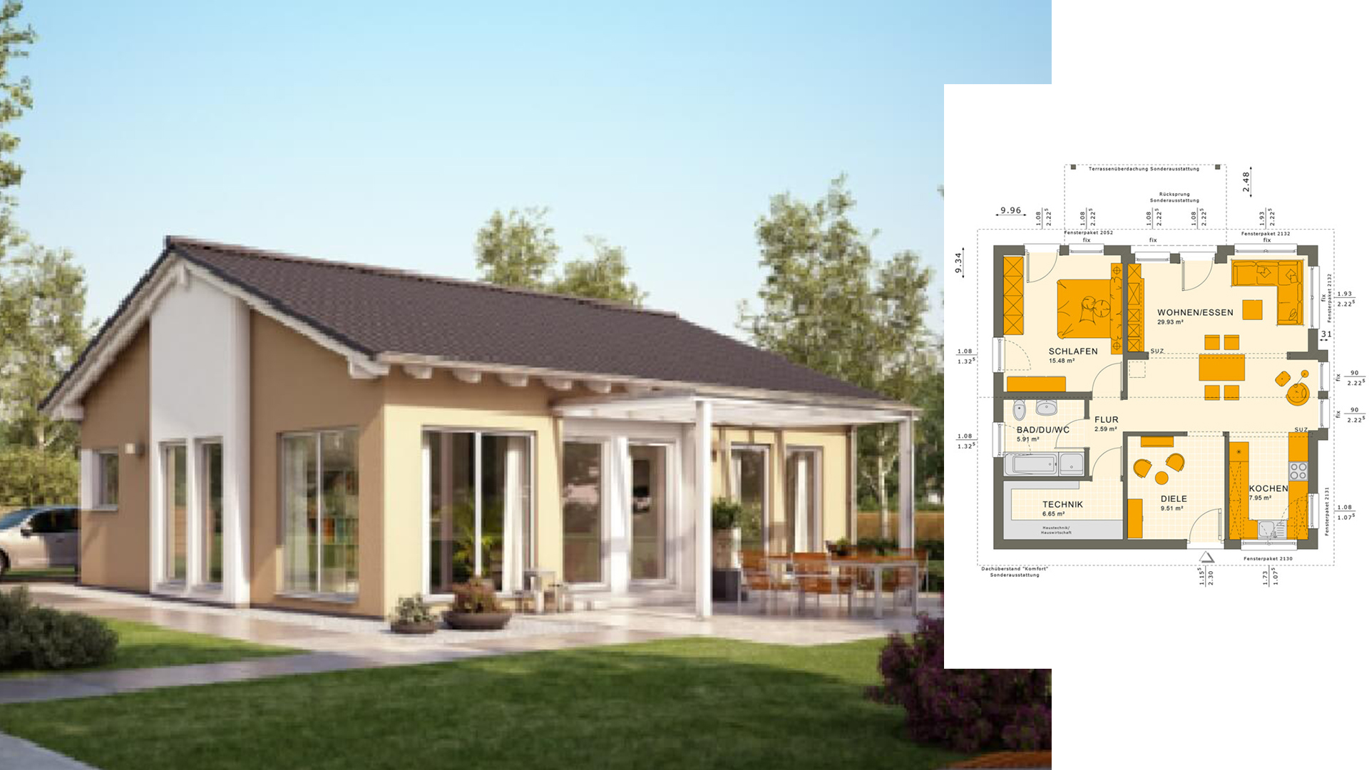 One Story Bungalow Design Plan 9x10 - Home Ideas