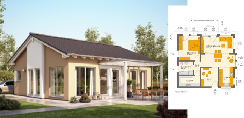 One Story Bungalow Design Plan 9×10