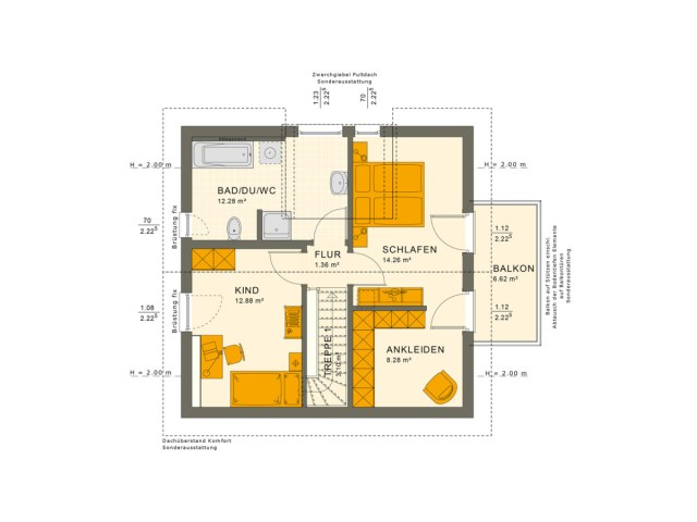 3 Bedrooms Single Family House Plan 8x8 Home Ideas