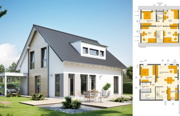 5 Bedrooms Townhouse Plan 9.3×10
