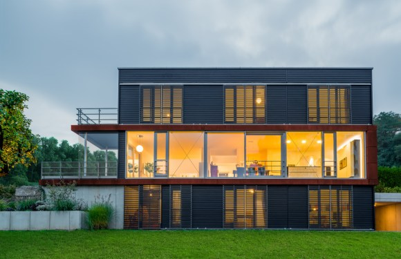 The organic design house Pawliczec with Flat Roof