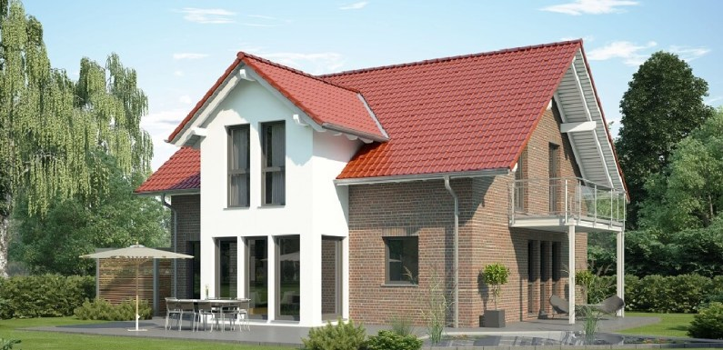 The single-family 3 Bedrooms house 10x11m