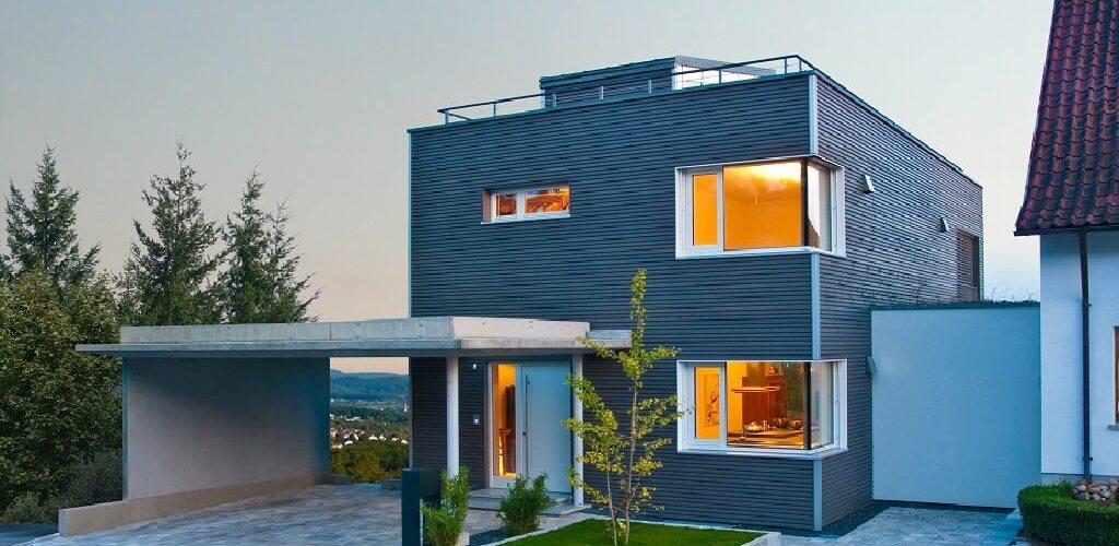 The Bauhaus Wiesenhütter with flat roof design