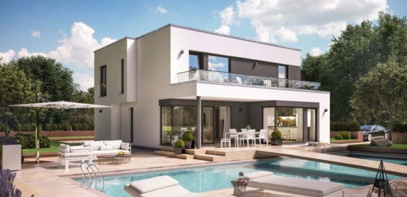 4 Rooms Modern Home design with Swimming Pool