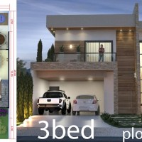 3 Bedrooms Home Design 10x20 Meters