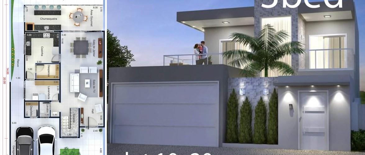 Home Design Plan 10×20 Meters