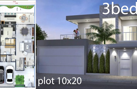 Home Design Plan 10×20 Meters