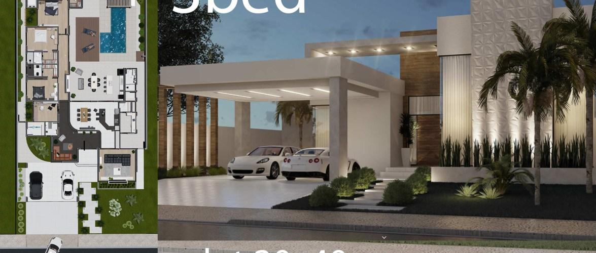 Home Design 20×40 Meter 3 suites