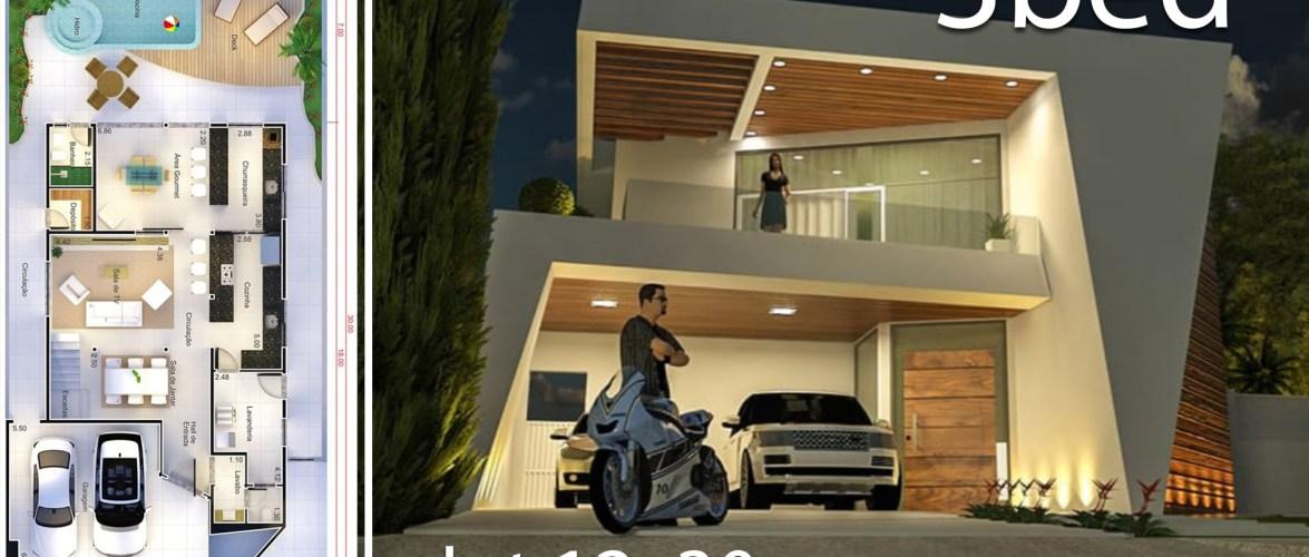 Modern Home Design 12×30 Meters 3 Bedrooms