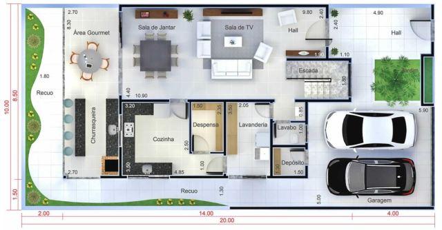 Home Design Plan 10x20 Meters Home Ideas