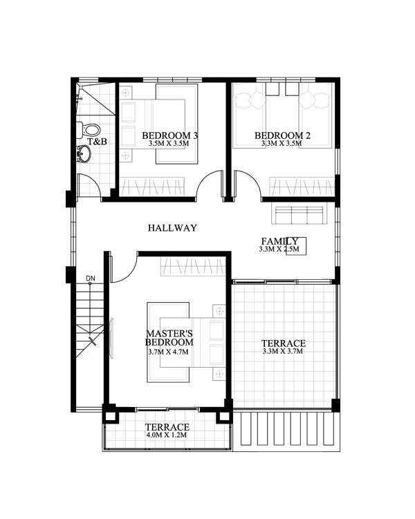 House Plans 12x15m With 4 Bedrooms Home Ideas
