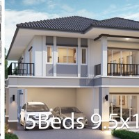 House design 9.5x13.5m with 5 bedrooms