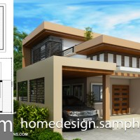 One story House Plans 13x15m with 2 bedrooms