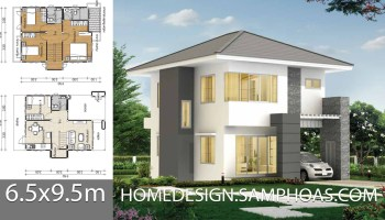 Small House design plans 7x9.5m with 4 bedrooms - Home Ideas