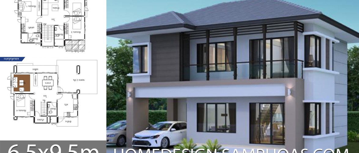 House Ideas 6.5×9.5m with 4 bedrooms