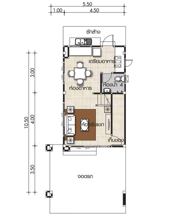 Small House Design Plans 55x105m With 3 Bedrooms Home Ideas