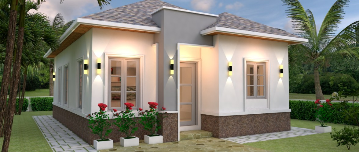 House Plans 7×10 with 3 Bedrooms Full plans