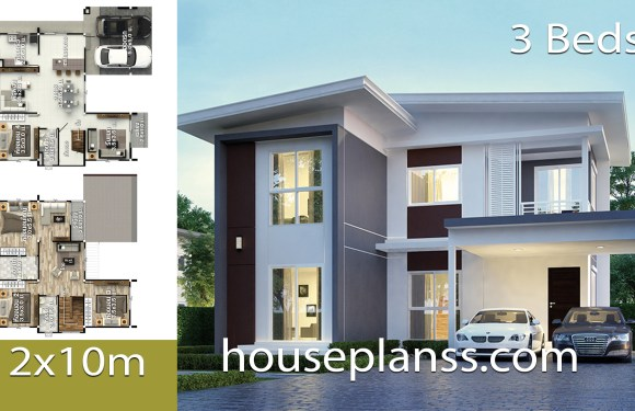 House Design Idea 12×10 with 3 bedrooms