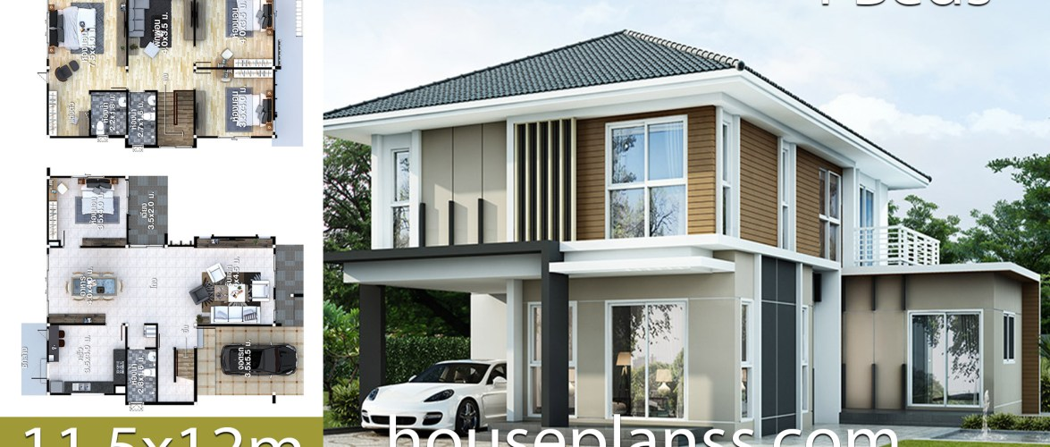 House design Plans Idea 11.5×12 with 4 bedrooms
