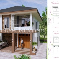27x40 Feet House Plans 8x10 Meters 4 Bedrooms