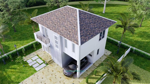 House Plans Design 8.5X6.5 M 3 Bedrooms PDF Full Plans 9
