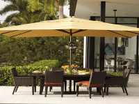 Large Cover Patio Umbrellas Yellow For Backyard Space