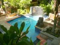 Beautiful Tropical Pool Design Blue Tiles Inside Cheap ...