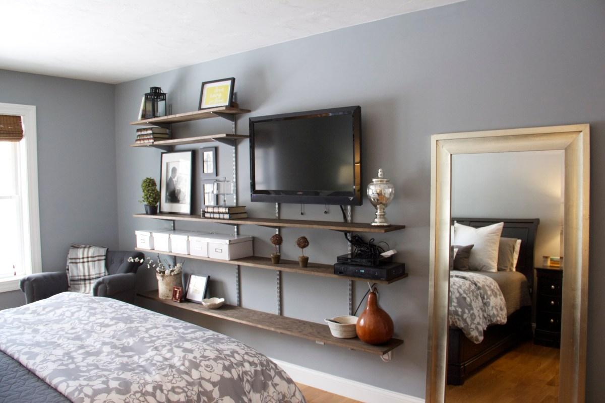 Interior Furniture Bedroom Shelves Design Ideas Tv Wall