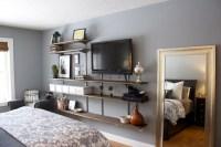 Interior Furniture Bedroom Shelves Design Ideas Tv Wall ...