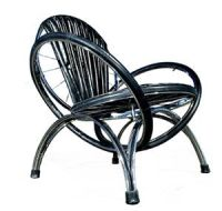 Repurposed Bicycle Tire Chair