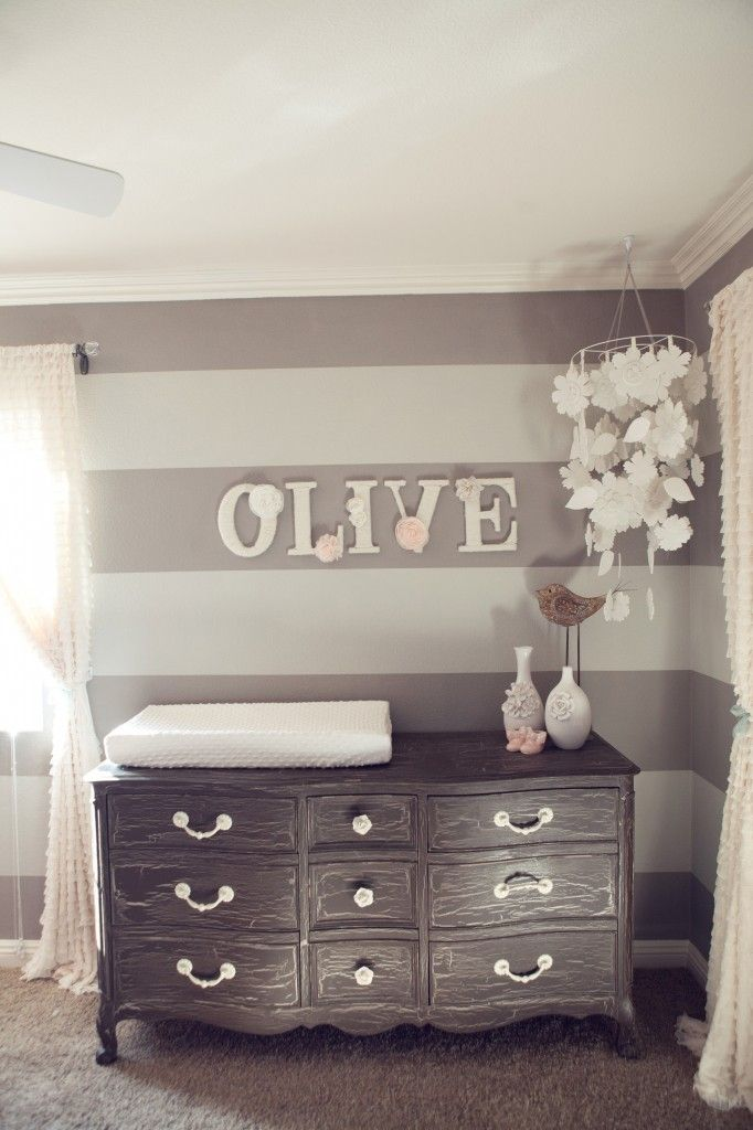 Wallpaper For Baby Girl Bedroom Diy Nursery Design With Baby Name On Wall Homedesignboard