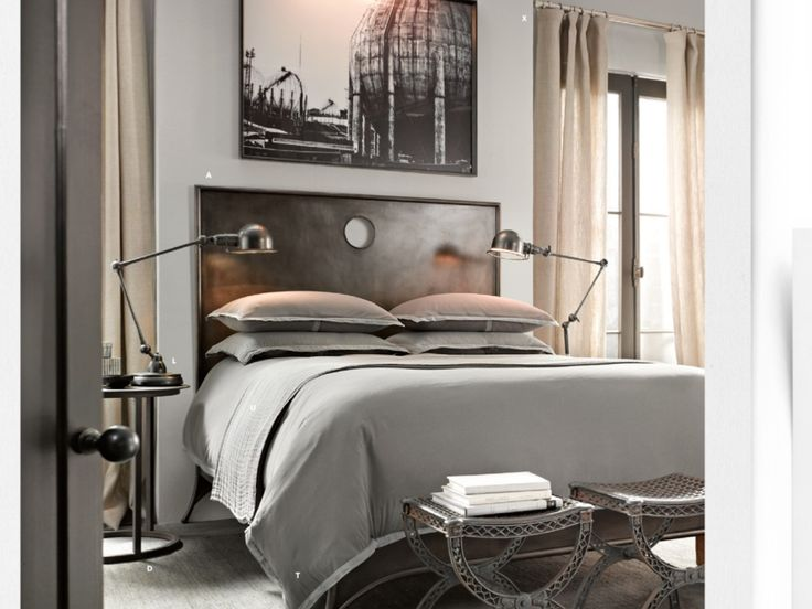 Grey and 1800s Inspired Bedroom Design  HomeDesignBoard