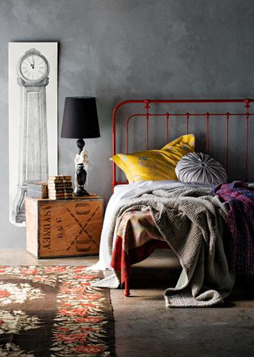 industrial grey bedroom More Industrial Bedroom Design Inspiration | HomeDesignBoard