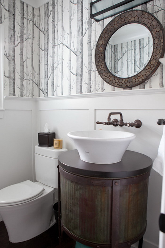 Wonderfully Wallpapered Powder Rooms  HomeDesignBoard