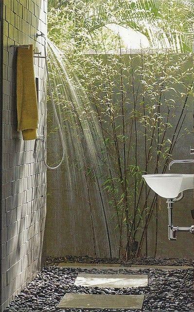 Ideen Gartendusche Design Erfrischung