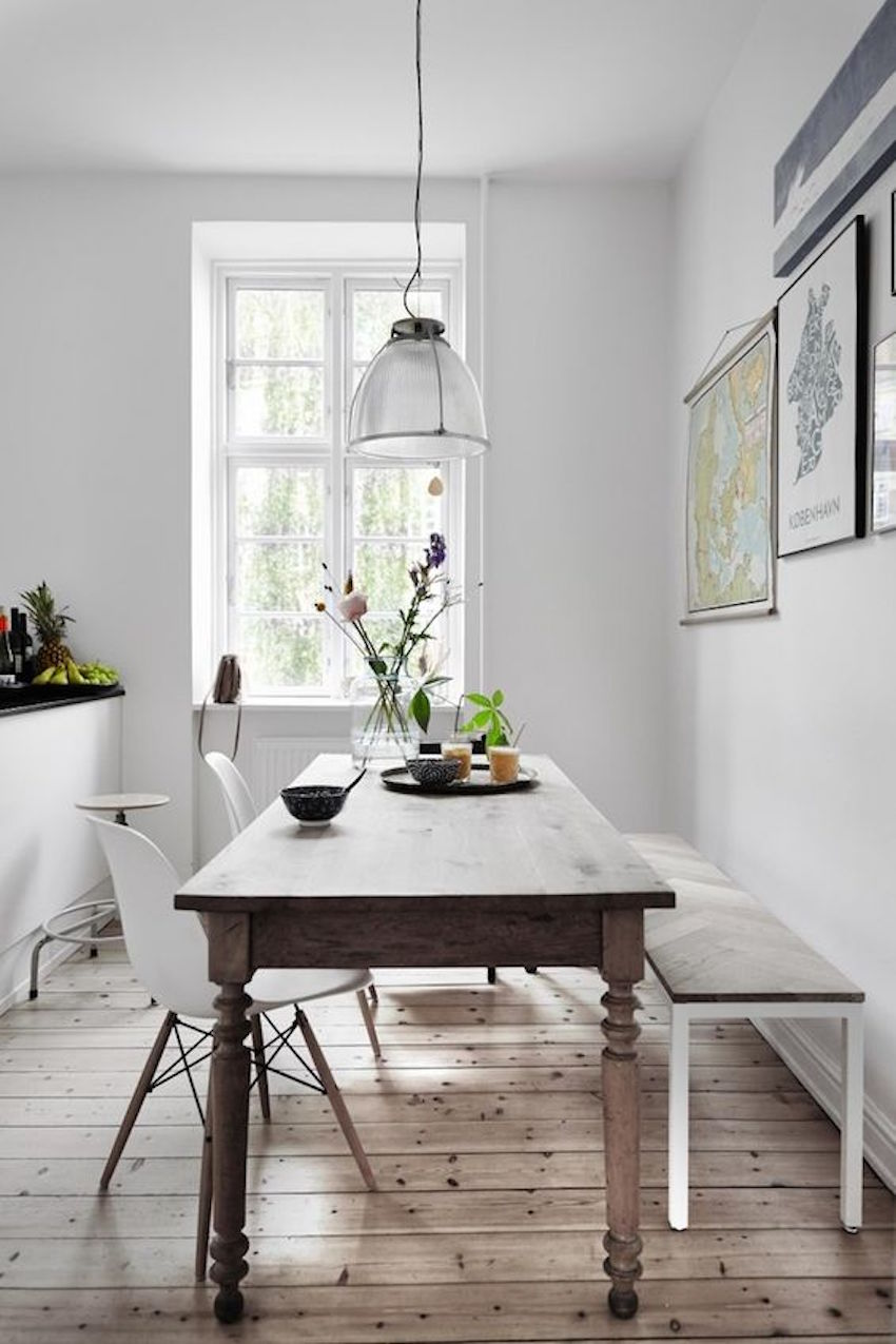 Narrow Dining Room Table Small Spaces