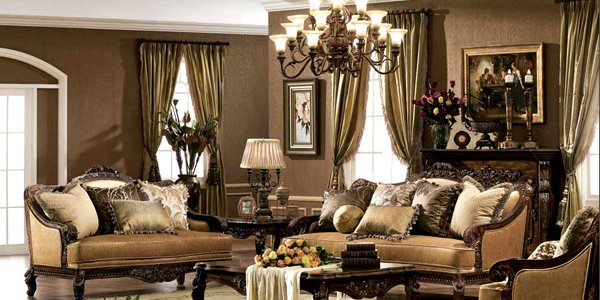 Place intricate window treatments
