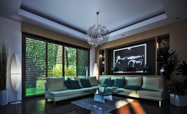 living room design with grey sofa cool art for 16 elegant contemporary rooms | home lover