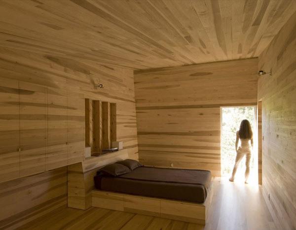 wooden sofa set design latest sofas chaise longue cama barcelona an inspiring sliding house in nova scotia, canada | home ...