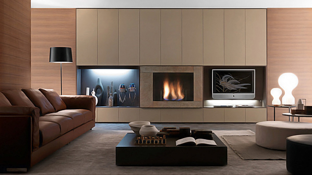 Presotto Italias Wall Units And Bookcases With Style And