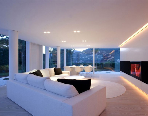 lake house living room photos ceiling lights for a look at switzerland's eccentric lugano | home ...